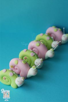Whimsical Fondant Snails
