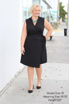 Plus Size Clothing for Women - The Power Dress - Black - Society+ - Society Plus - Buy Online Now!