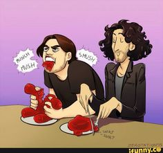 """From the video Game Grumps Eat a 5 lb. Gummy Bear!! xD """"Now I'm grossed out AND horny.""""-Danny"""