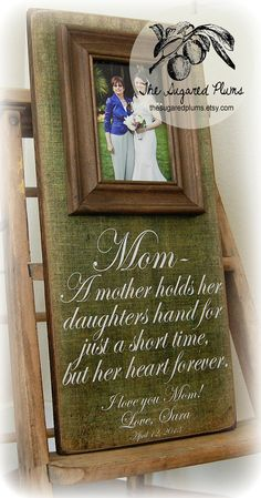 Mother of the Bride Gift Personalized Picture by thesugaredplums, $65.00
