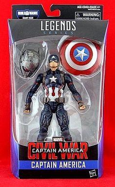 "Captain America Marvel Legends 6"" Action Figure Civil War BAF Giant Man Hasbro #Hasbro"