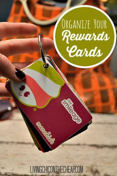 Organize Your Rewards Cards. Here is a simple way to organize ALL those rewards cards for those who do not want to use the app! No more shuffling at the register. You can make this in less than 5 minutes! #organize #DIY