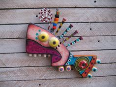 Twisted Fish 97 Original Found Object Wall Art by by FigJamStudio Wood Art, Transfer Images To Wood, Painted Fish, Funny Fish, Felt Fish, Wood Fish, Paper Bead Jewelry, Shrink Art, Fig Jam