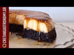 Κέικ σοκολάτας με κρέμα καραμελέ (VIDEO) - cretangastronomy.gr Greek Desserts, Brownie Cake, Brownies, Party Buffet, Cake Cookies, Deserts, Sweet Home, Food And Drink, Sweets