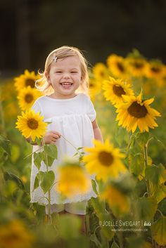Palm Beach Sunflower Field Children Portrait Session in Wellington South Florida  @  Sweigart Photography – Jupiter, Florida Newborn Photographer