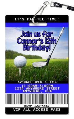 Golf Birthday Invitations