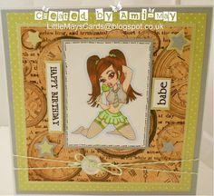 "Redonkadoodles.com ""Sassy Sweet Tooth"" Digital Stamp - Handmade card Design by: Ami-May"