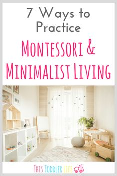 Montessori & minimalist living compliment each other perfectly. If you're ready to start practicing one or the other you can find 7 helpful ways to get started right here! playroom 7 WAYS TO PRACTICE MONTESSORI & MINIMALIST LIVING Montessori Toddler Rooms, Montessori Bedroom, Montessori Homeschool, Ikea Montessori, Montessori Kindergarten, Montessori Activities, Preschool, Baby Bedroom, Kids Bedroom