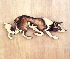 Border Collie Wall Hanging Pyrography wood wallhanging Wood