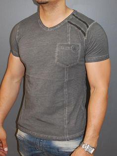Men Sticthy Dyed T-shirt - Green T Shirt Crop Top, Dye T Shirt, V Neck T Shirt, Men Shirt, Crop Tops, Casual T Shirts, Cool Shirts, Denim Shirt With Jeans, Denim Shirts