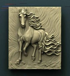 How To Woodworking Videos Cnc Router, Routeur Cnc, Clay Wall Art, Mural Wall Art, Clay Art, Art Sculpture En Bois, Horse Sculpture, Wood Carving Designs, Wood Carving Art