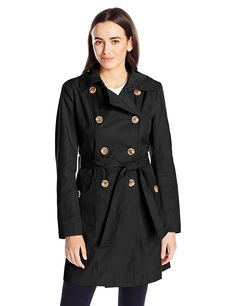 Anne Klein Women's Classic Double-breasted Trench Coat Clean fresh trench Classic silhouette with a modern twist Casual Coats For Women, Blazer Jackets For Women, Winter Jackets Women, Clothes For Women, Women's Jackets, Double Breasted Trench Coat, Belted Coat, Trench Coat Style, Fall Fashion Outfits