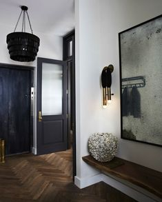 Check Out Industrial Entryway Design That Will Attract You Inside. The industrial entryway is a very valuable part of the industrial residence in terms of design. House Design, Interior, Home, Entry Way Design, New York Loft, House Styles, Loft Design, New Homes, Trending Decor