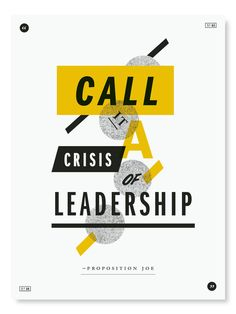 #poster #typography #crisis #leadership