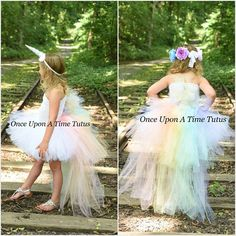 Pastel Unicorn Bustle Tutu Dress Girls Size 12 18 Months 2T
