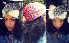 Basketweave Crochet Stitch Headband & Matching Cowl. Both created with twist.