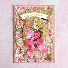 Fan Mail Friday - May 2020 - Anna Griffin Scrapbook Page Layouts, Scrapbook Pages, Slider Cards, Anna Griffin Cards, Pink Cards, Easel Cards, Butterfly Cards, Distress Ink, Hello Everyone