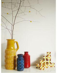 vintage ceramic vases: yummy