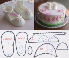 Baby shoes By aldoska on CakeCentral.com