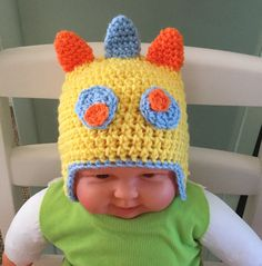Available to buy from my Etsy shop https://www.etsy.com/uk/listing/501324701/monster-beanie-hat-hand-crocheted