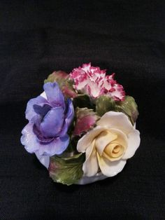 Fine Bone China - Flower Bowl by Aynsley England - Hand Modelled & Hand Painted
