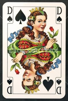 Playing card queen — Photo #5318539