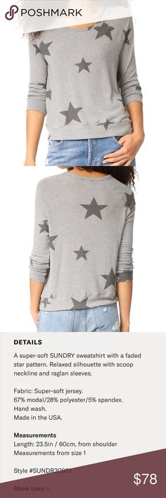 Sundry Star pullover NWOT. Brand new and never worn. I'm not just saying that, I really haven't worn it! I legit just counted 5 star, sweater/sweatshirts and since I'm pregnant, one of them had to go!! But this is seriously adorable. If you aren't familiar with Sundry you should check it out! It's my favorite brand, along with Lulu and FP:) Anyways, it's sold out on Sundry, Shopbop and Revolve. Retail was $99-$118 depending on the site.  Thanks for looking and make an offer! Sundry Sweaters…