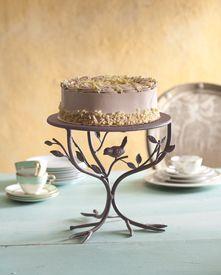 A bird cake stand.