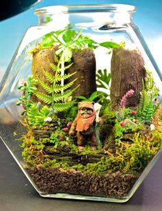Terrarium: Make Dad a miniterrarium for his office, and personalize it by adding figurines of his favorite characters. Get the DIY instructions here. Source: Etsy user Megatone230