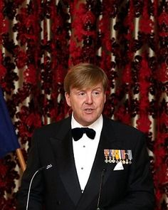 King Willem-Alexander of the Netherlands makes a speech during a state dinner at Government House on November 7, 2016 in Wellington, New Zealand.