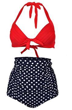 Skyjoy 2015 New Retro High Waisted Bikini Swimsuits Swimwear (FBA) (XXXL:US12-14, White Polka) Skyjoy http://www.amazon.com/dp/B00T9LHNB0/ref=cm_sw_r_pi_dp_Y8jlvb19G4JN3