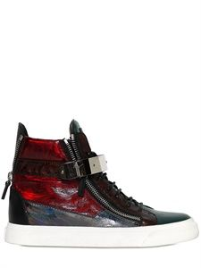 GIUSEPPE ZANOTTI HOMME - 3D EFFECT PATENT LEATHER SNEAKERS