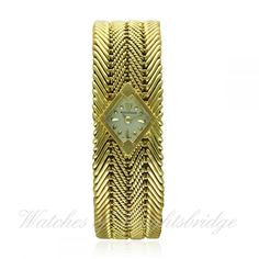 A RARE LADIES 18K SOLID GOLD JAEGER LECOULTRE BRACELET WATCH CIRCA 1960s RETAILED BY KETCHINSKY LOND