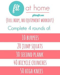 Quickie Full Body FIT AT HOME No Equipment Workout
