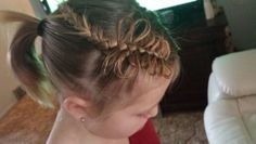 Little girl's hair