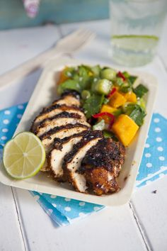 BBQ Jerk Chicken with Mango Salsa | DonalSkehan.com | HomeCooked Kitchen Blog