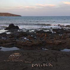 Mensajes en la arena. #beachlife #slowlife
