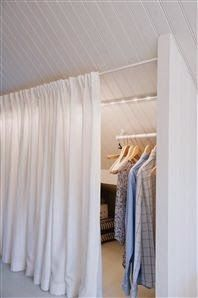 New Ideas Bedroom Loft Ideas Sloped Ceiling Slanted Walls Attic Closet, Attic Playroom, Attic Stairs, Garage Attic, Attic Office, Closet Doors, Attic Ladder, Attic House, Curtain Wardrobe Doors