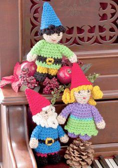 Crochet gnome family