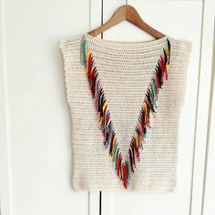 beginner crochet kit to make a tee / colorful tee for festivals