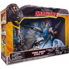 #walmart DreamWorks Dragons How To Train Your Dragon 2 Power Dragon Attack Set - $39.88 (save 20%) #toys #action #figures
