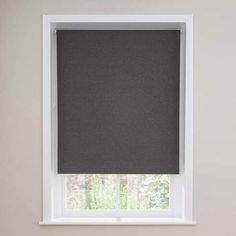 Featuring a blackout coating to reduce external noise and light, this Luna roller blind comes in simple charcoal grey and is available in a selection of sizes...
