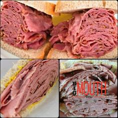 Thinly sliced steamed right off of the brisket, we serve a heaping mouth watering portion! A delicious tender bite for any appetite. Montreal Smoked Meat Sandwich, Homemade Soup, Smoking Meat, Brisket, Soup And Salad, Pulled Pork, Deli, Sandwiches, Ethnic Recipes