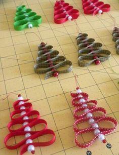 Ribbon candy Ribbon Christmas tree ornaments