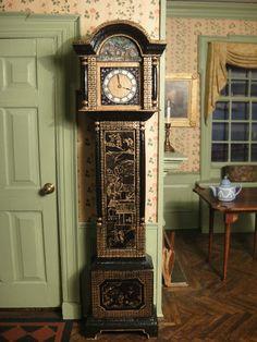 Artisan Johann Oppermann's Chinoiserie Grandfather Clock- Signed 1997 OOAK