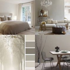 14 Fabulous Rustic Chic Bedroom Design and Decor Ideas to Make Your Space Special - The Trending House Taupe Living Room, Interior Design Living Room, Murs Taupe, Taupe Walls, Rustic Chic Decor, Rustic Home Design, Home And Living, Bedroom Decor, Palette