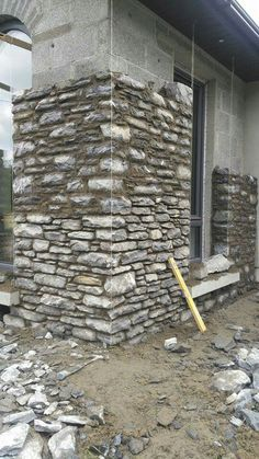 Stone House Revival on DIY Network with Jeff Devlin – Master… – Stone House Dry Stone, Brick And Stone, Stone Cottages, Stone Houses, Building Stone, Building A House, Stone House Revival, Stone Wall Design, Stone Masonry