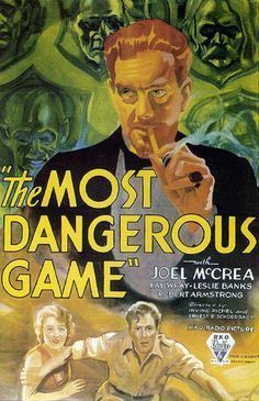 "Five-day lesson plan for teaching ""The Most Dangerous Game"" to ninth graders- oh my gosh. I remember this story!"