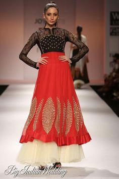 Joy Mitra Wills Lifestyle India Fashion Week 2012 - Cocktail Wear - Bigindianwedding Latest Indian Fashion Trends, Indian Fashion Designers, Indian Designer Wear, Asian Fashion, Women's Fashion, Bridal Fashion, Dress Fashion, Fashion Ideas, Latest Trends
