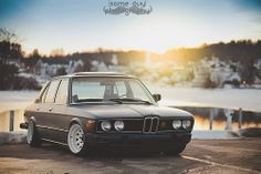 Slammed BMW e12 on steelies